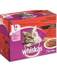 Whiskas Pouch Vlees In Saus 12x100 GR